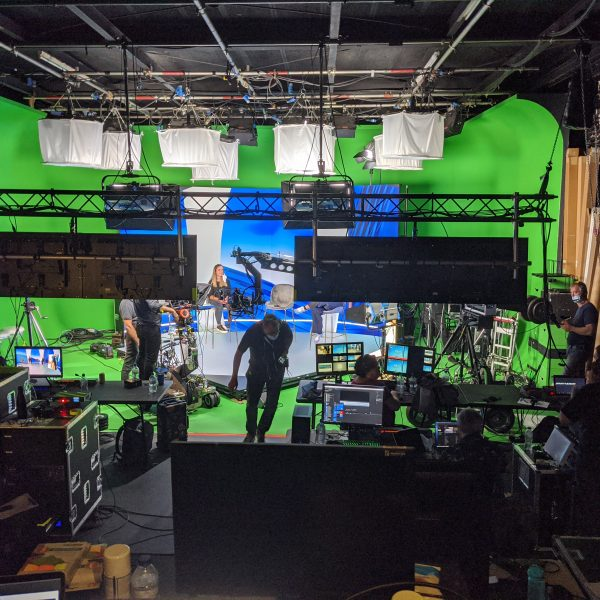Behind the scenes for a corporate XR virtual event