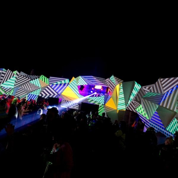 "Projection mapping ""HEAVEN"" at Shangri La, Glastonbury Festival"