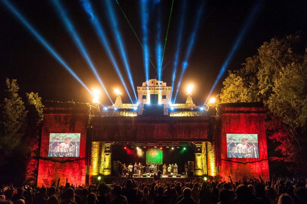 Stage design for Lion's Den stage at Boomtown Fair