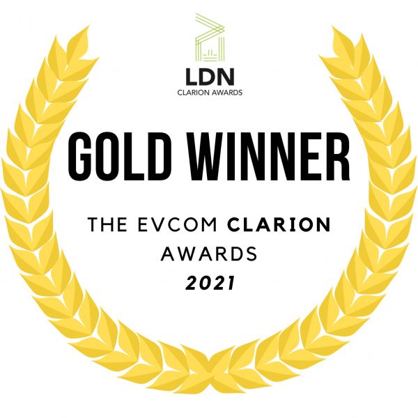 Gold award certificate from EVCOM Clarion Awards for Studio Giggle's Short Film: Isolation