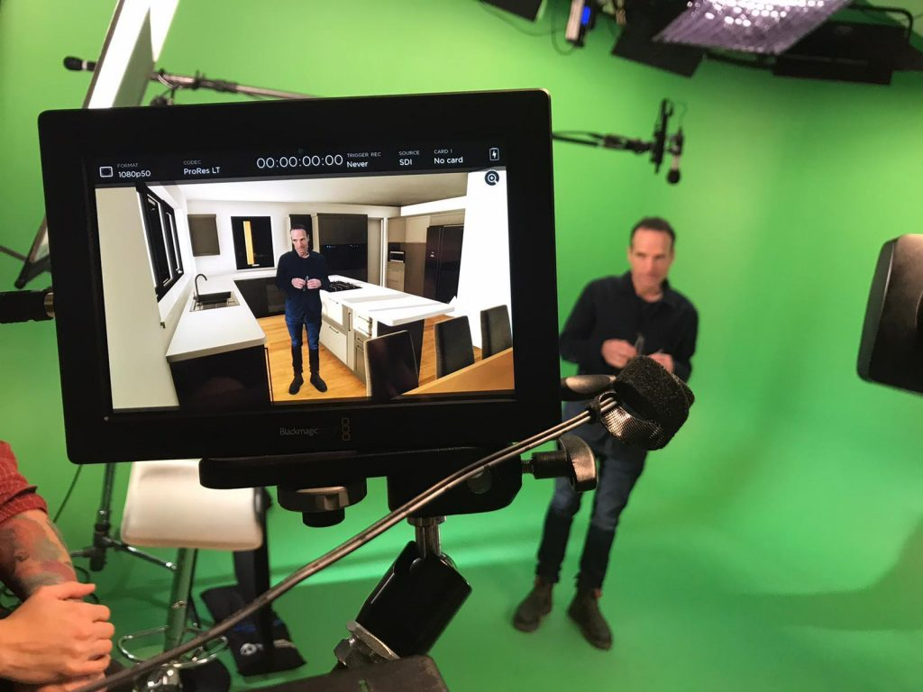 Green screen studio shoot using Unreal